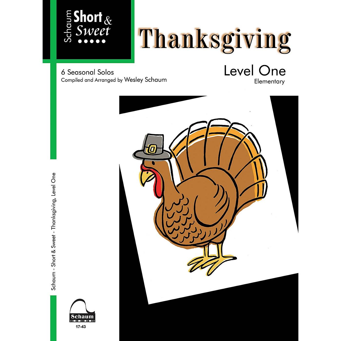 SCHAUM Short & Sweet: Thanksgiving (Level 1) Educational Piano Book (Level Elem) thumbnail