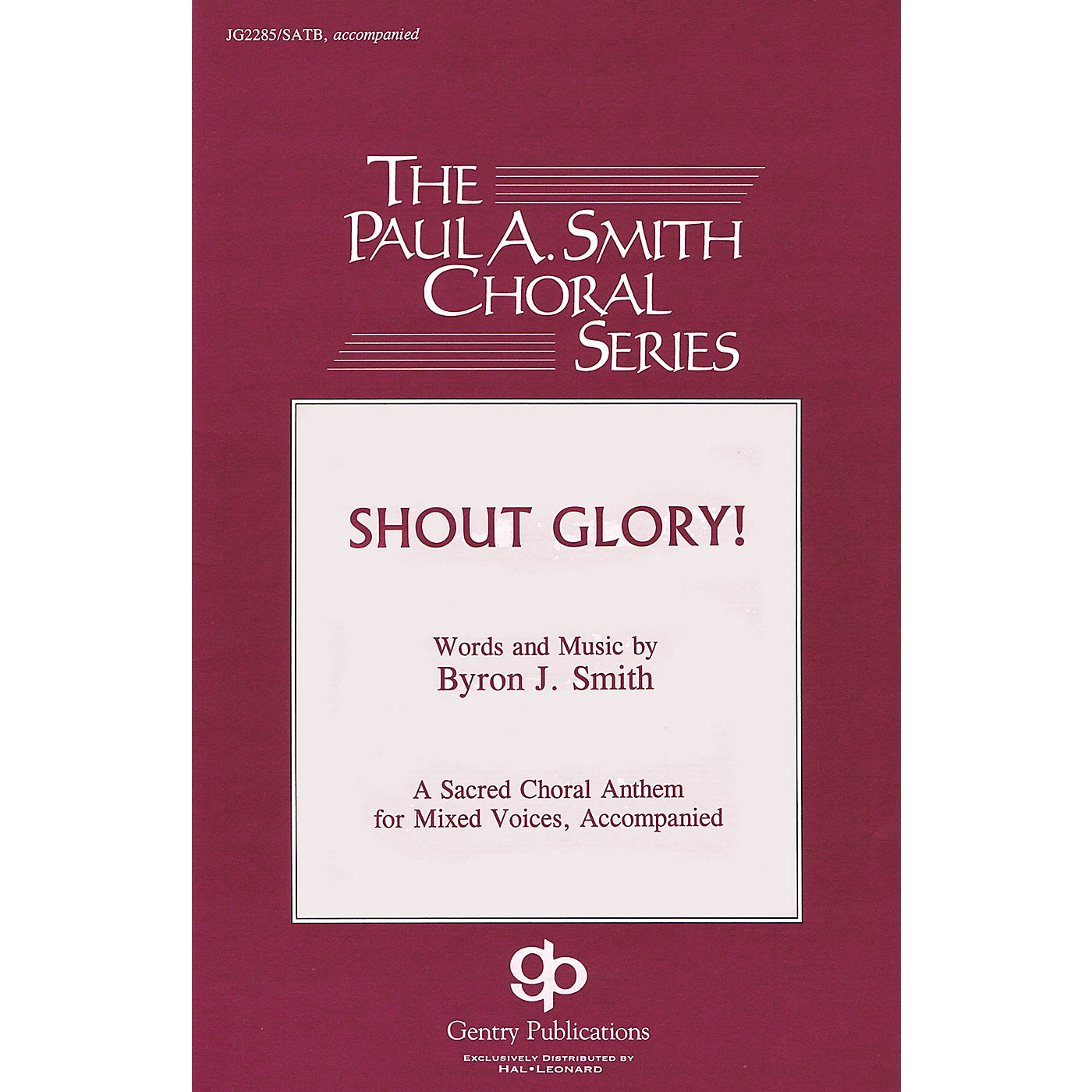Gentry Publications Shout Glory! Accompaniment CD Composed by Byron Smith thumbnail