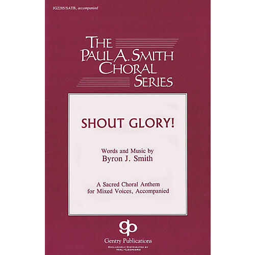 Gentry Publications Shout Glory! TTBB Composed by Byron Smith thumbnail