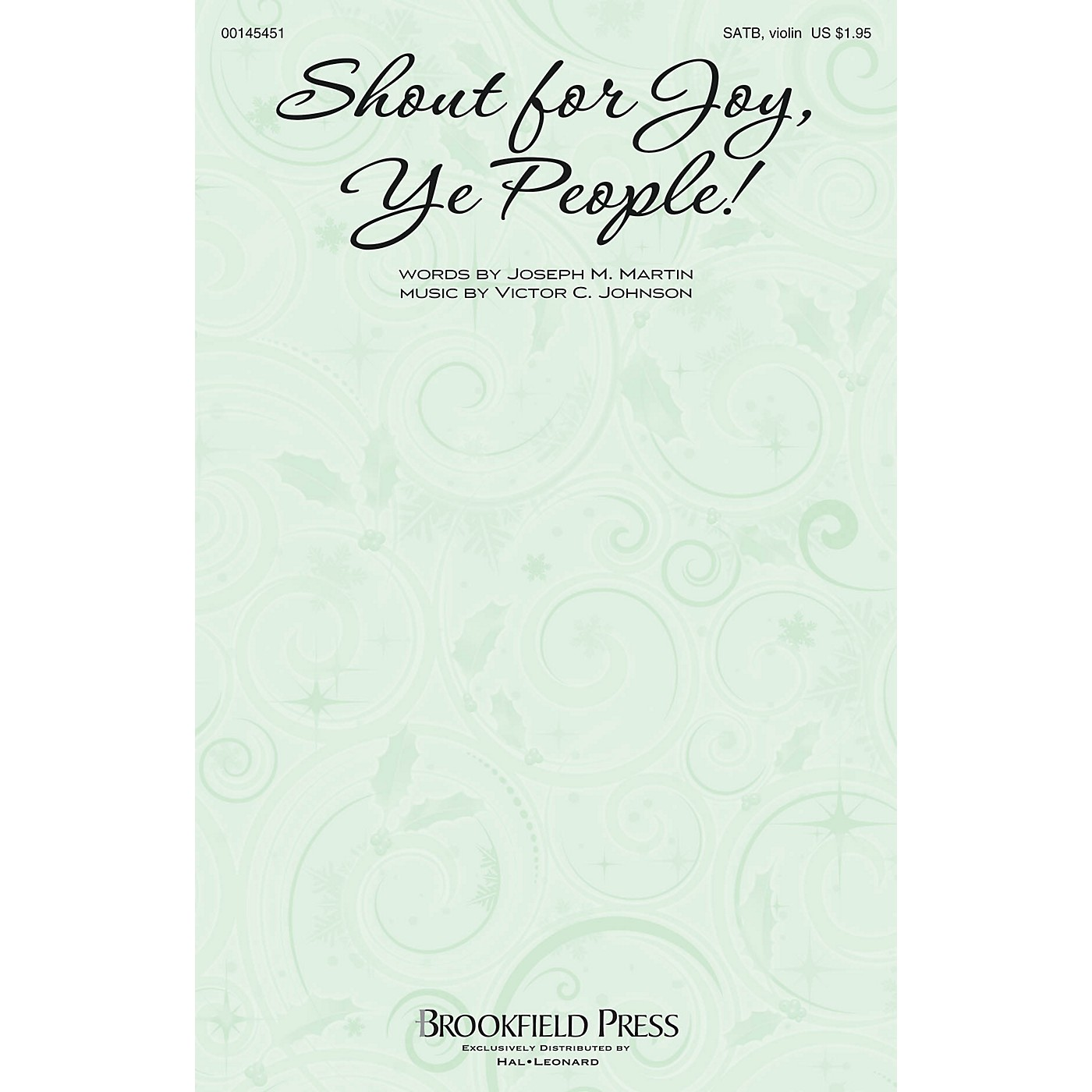 Brookfield Shout for Joy, Ye People! SATB W/ VIOLIN composed by Victor C. Johnson thumbnail