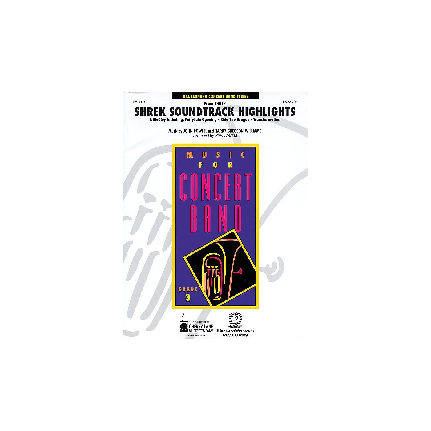 Cherry Lane Shrek Soundtrack Highlights - Young Concert Band Level 3 by John Moss thumbnail