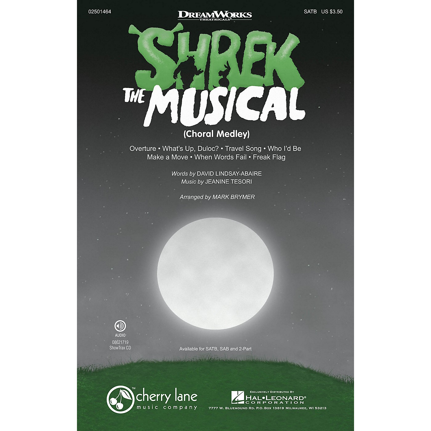 Cherry Lane Shrek: The Musical (Choral Medley) ShowTrax CD Arranged by Mark Brymer thumbnail