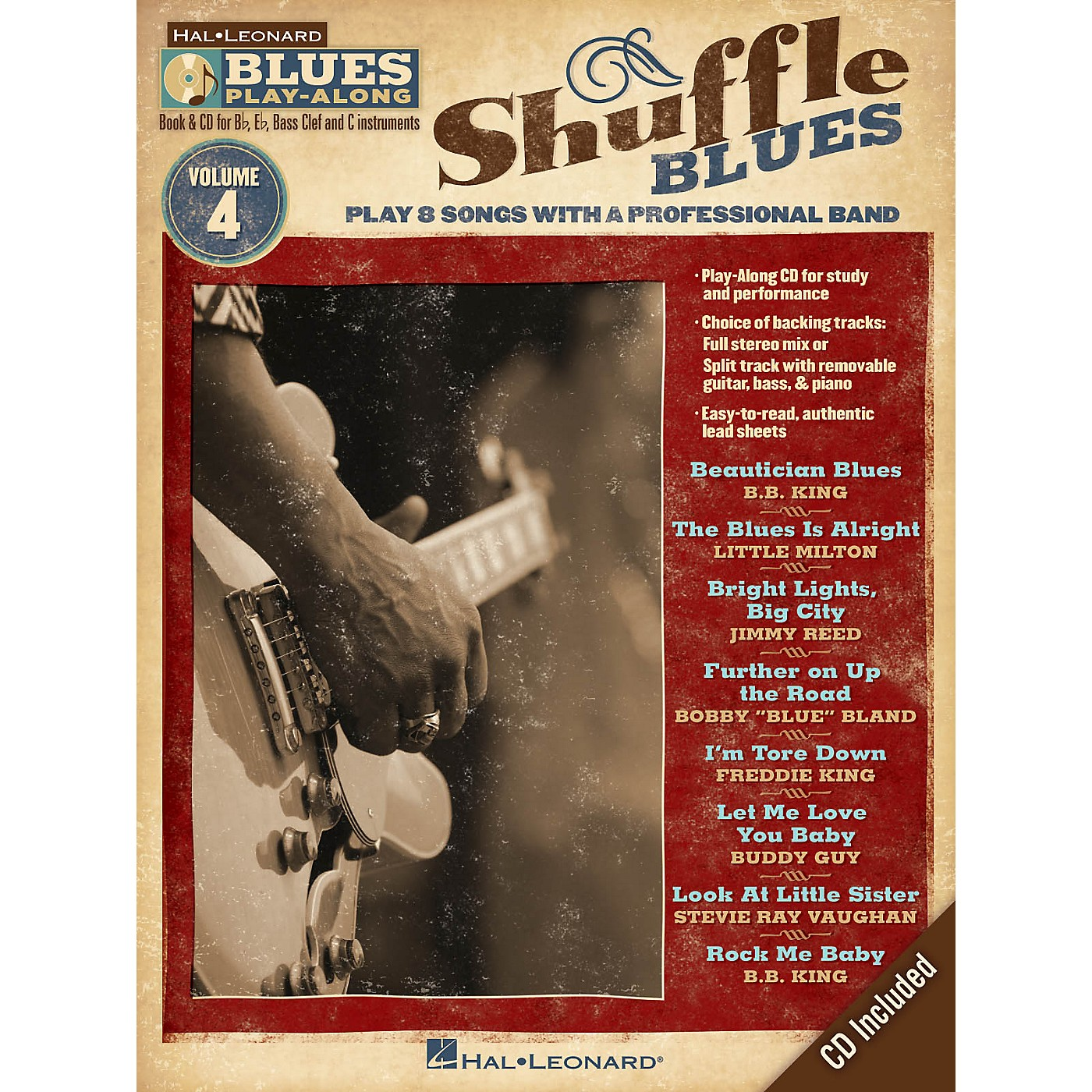 Hal Leonard Shuffle Blues (Blues Play-Along Volume 4) Blues Play-Along Series Softcover with CD Performed by Various thumbnail