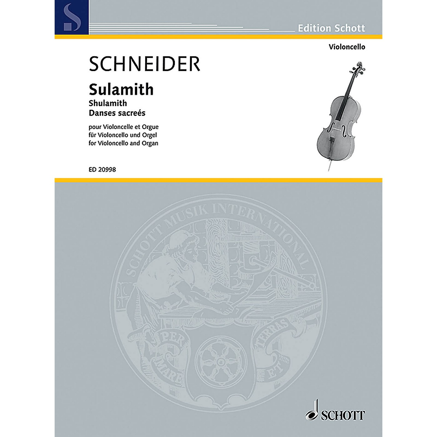 Schott Shulamith (Danses Sacrées Cello and Organ) Schott Series Composed by Enjott Schneider thumbnail