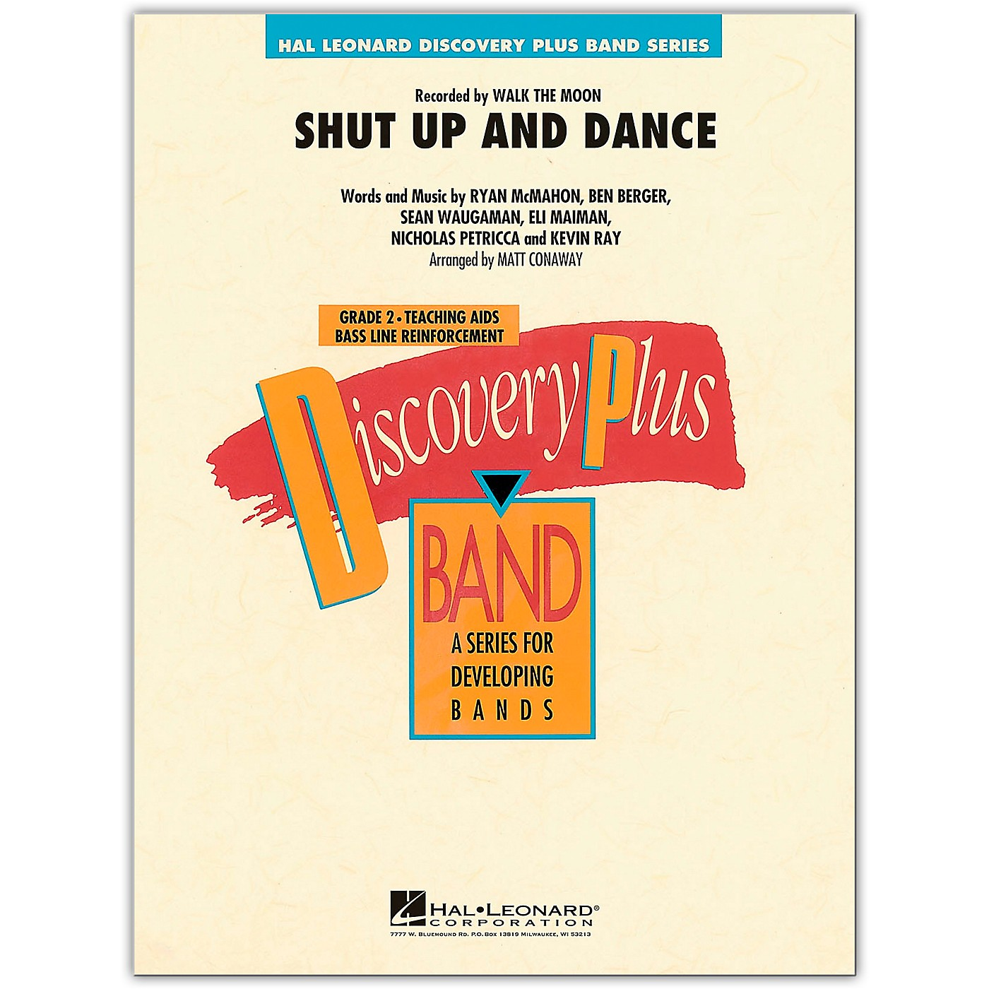 Hal Leonard Shut Up and Dance - Discovery Plus Concert Band Series Level 2 arranged by Matt Conaway thumbnail