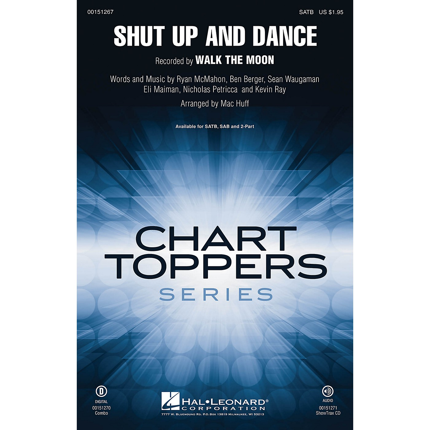 Hal Leonard Shut Up and Dance SAB by Walk The Moon Arranged by Mac Huff thumbnail