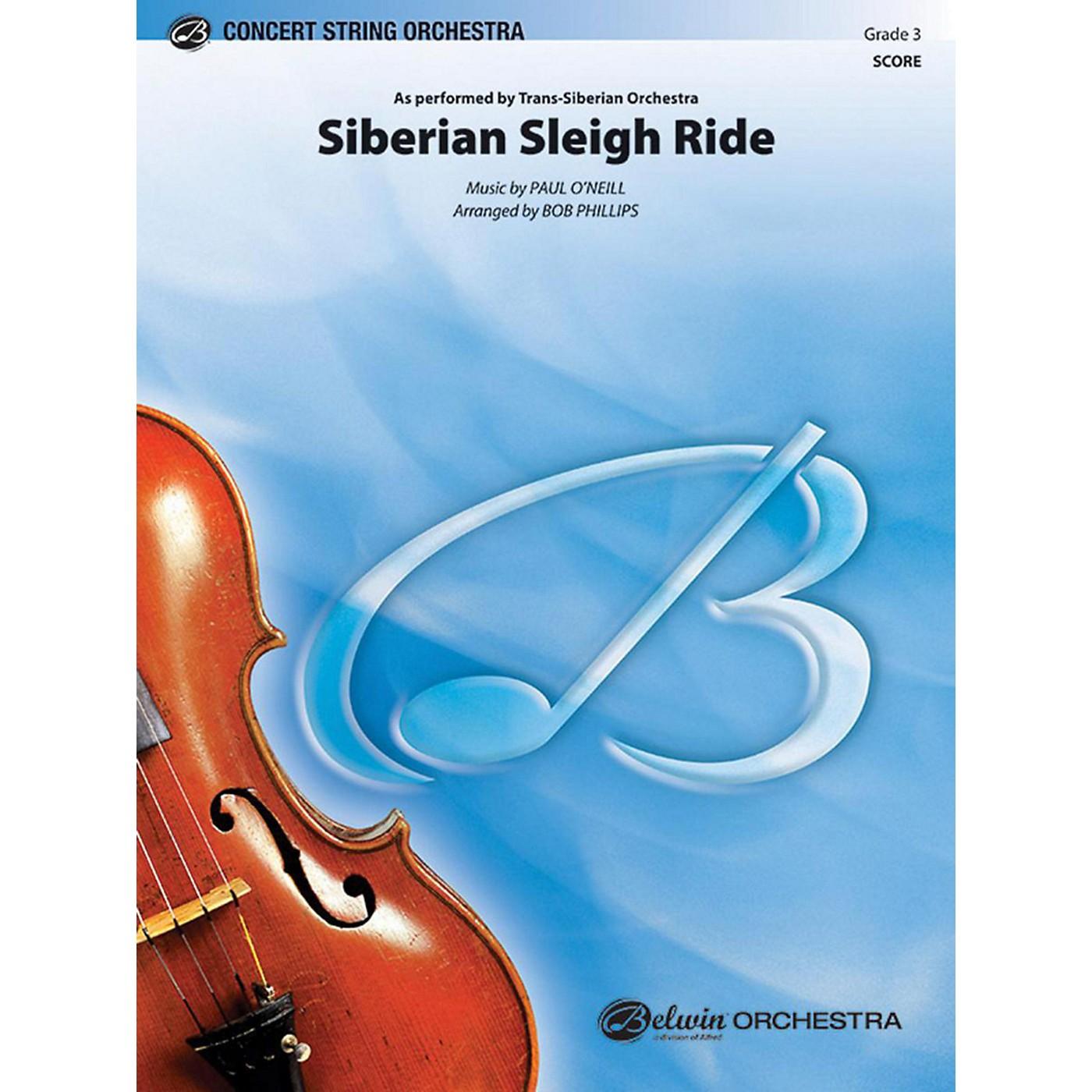 Alfred Siberian Sleigh Ride String Orchestra Grade 3 thumbnail
