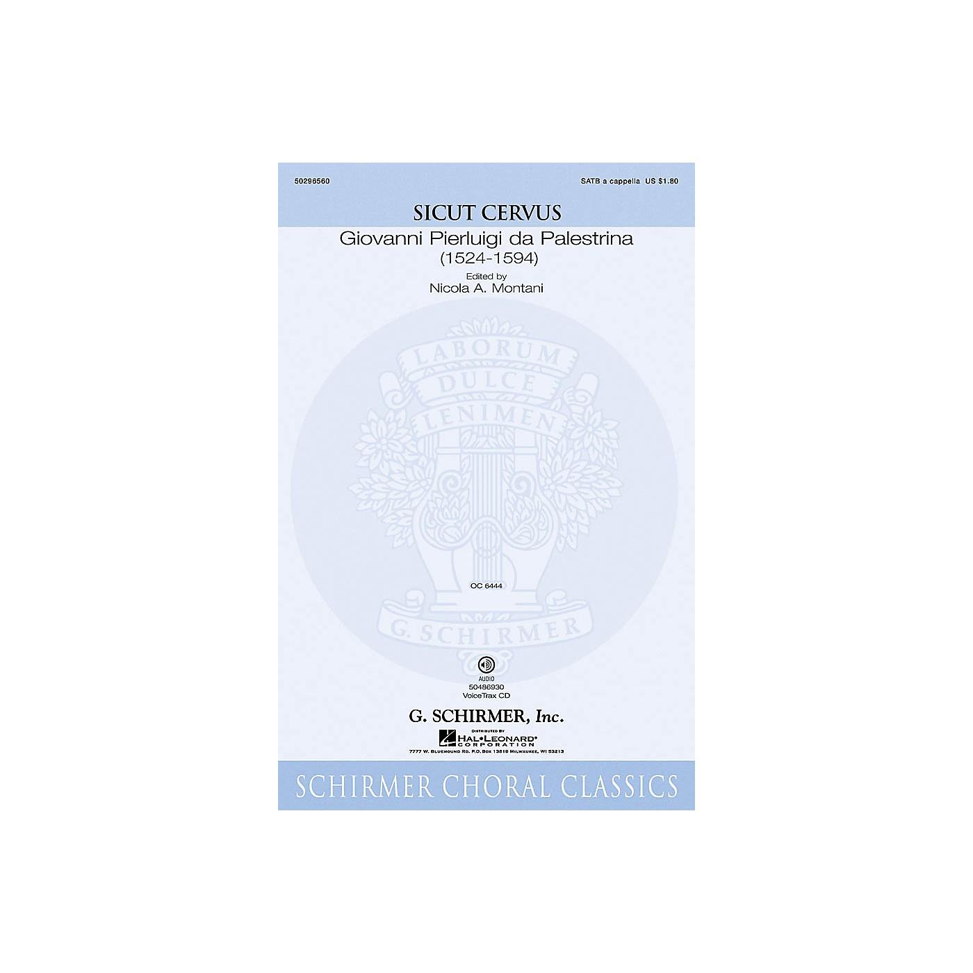 G. Schirmer Sicut Cervus SATB composed by Giovanni Palestrina thumbnail
