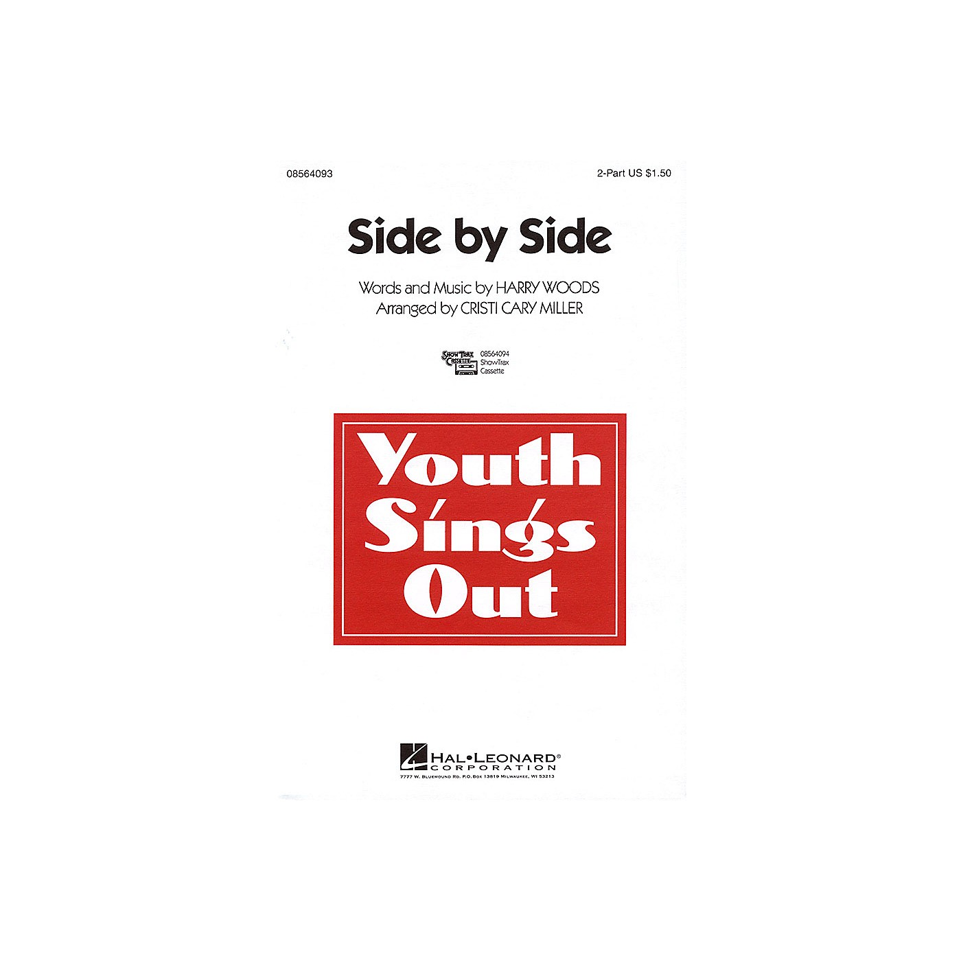Hal Leonard Side by Side 2-Part arranged by Cristi Cary Miller thumbnail