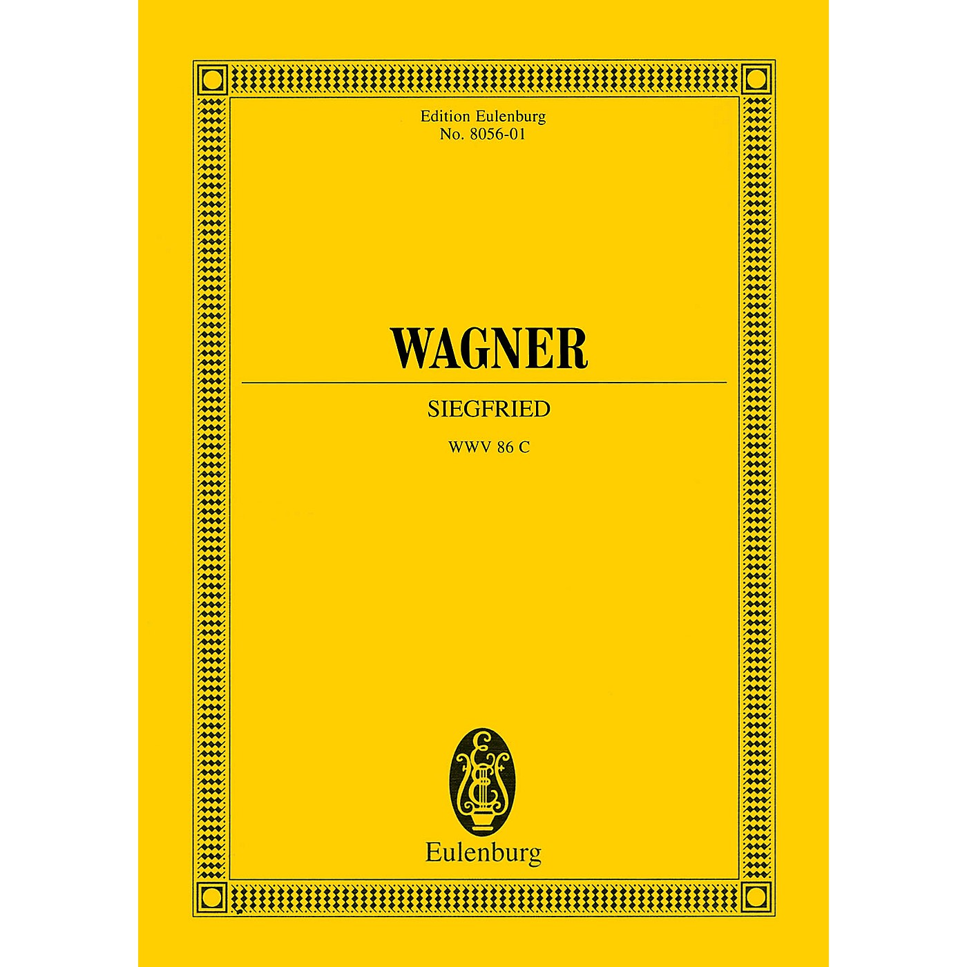 Eulenburg Siegfried (Hardbound, Study Score) Study Score Series Hardcover Composed by Richard Wagner thumbnail
