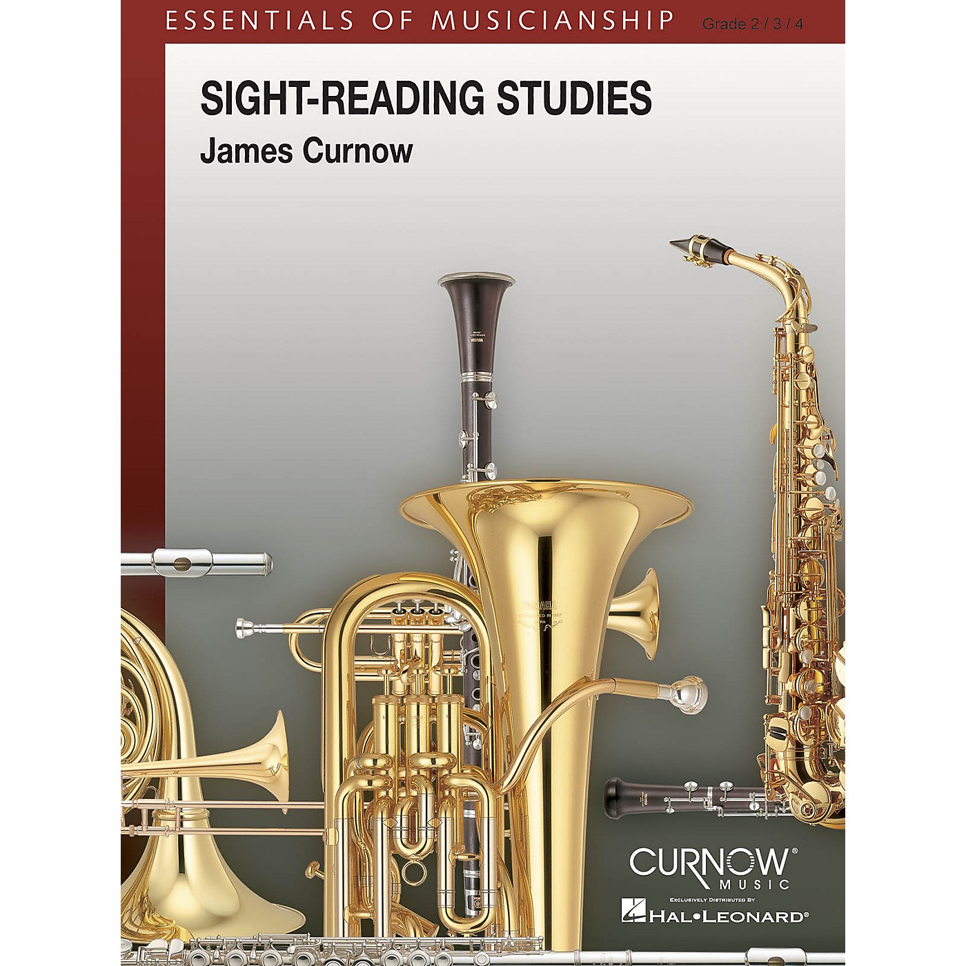 Curnow Music Sight-Reading Studies (Grade 2 to 4 - Score and Parts) Concert Band Level 2-4 Arranged by James Curnow thumbnail