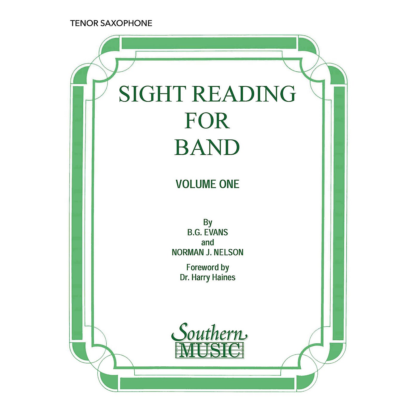 Southern Sight Reading for Band, Book 1 (B-Flat Tenor Saxophone) Concert Band Level 2 Composed by Billy Evans thumbnail