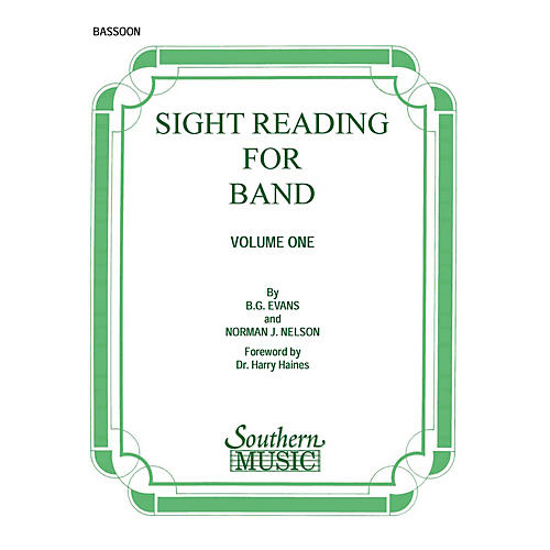 Southern Sight Reading for Band, Book 1 (Bassoon) Southern Music Series by Billy Evans thumbnail