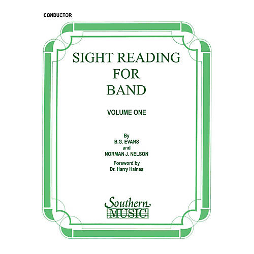 Southern Sight Reading for Band, Book 1 (Conductor) Concert Band Level 2 Composed by Billy Evans thumbnail