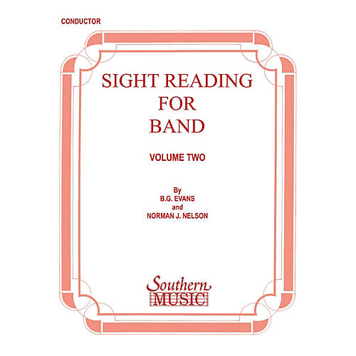 Southern Sight Reading for Band, Book 2 (Baritone T.C.) Southern Music Series Composed by Billy Evans thumbnail