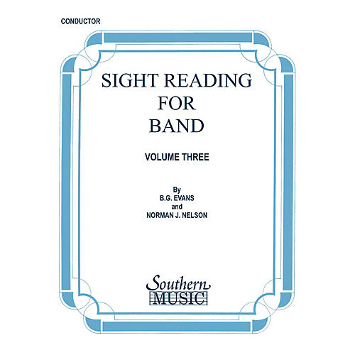 Southern Sight Reading for Band, Book 3 (Tenor Saxophone) Southern Music Series  by Billy Evans thumbnail