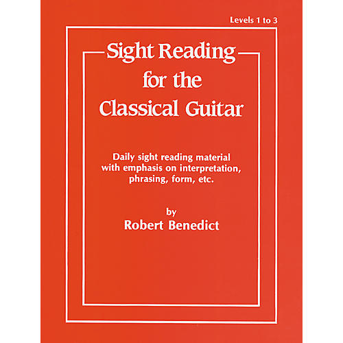 Alfred Sight Reading for the Classical Guitar Level I-III thumbnail