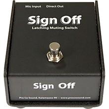 Pro Co Sign Off Latching Mic Mute Switch