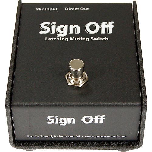 Pro Co Sign Off Latching Mic Mute Switch thumbnail