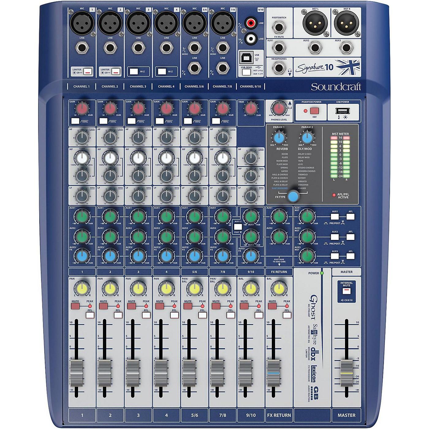 Soundcraft Signature 10 10-Input Analog Mixer thumbnail