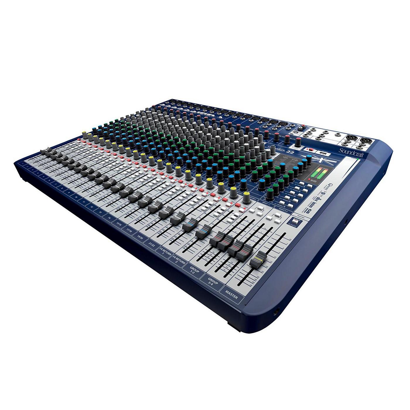 Soundcraft Signature 22 22-Input Analog Mixer with Effects thumbnail