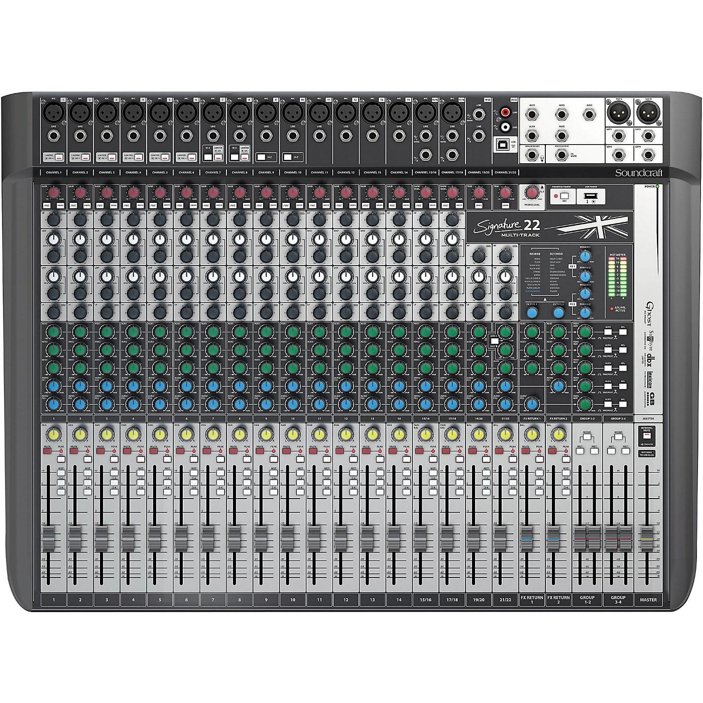 Soundcraft Signature 22MTK 22-Channel Multi-Track Mixer thumbnail