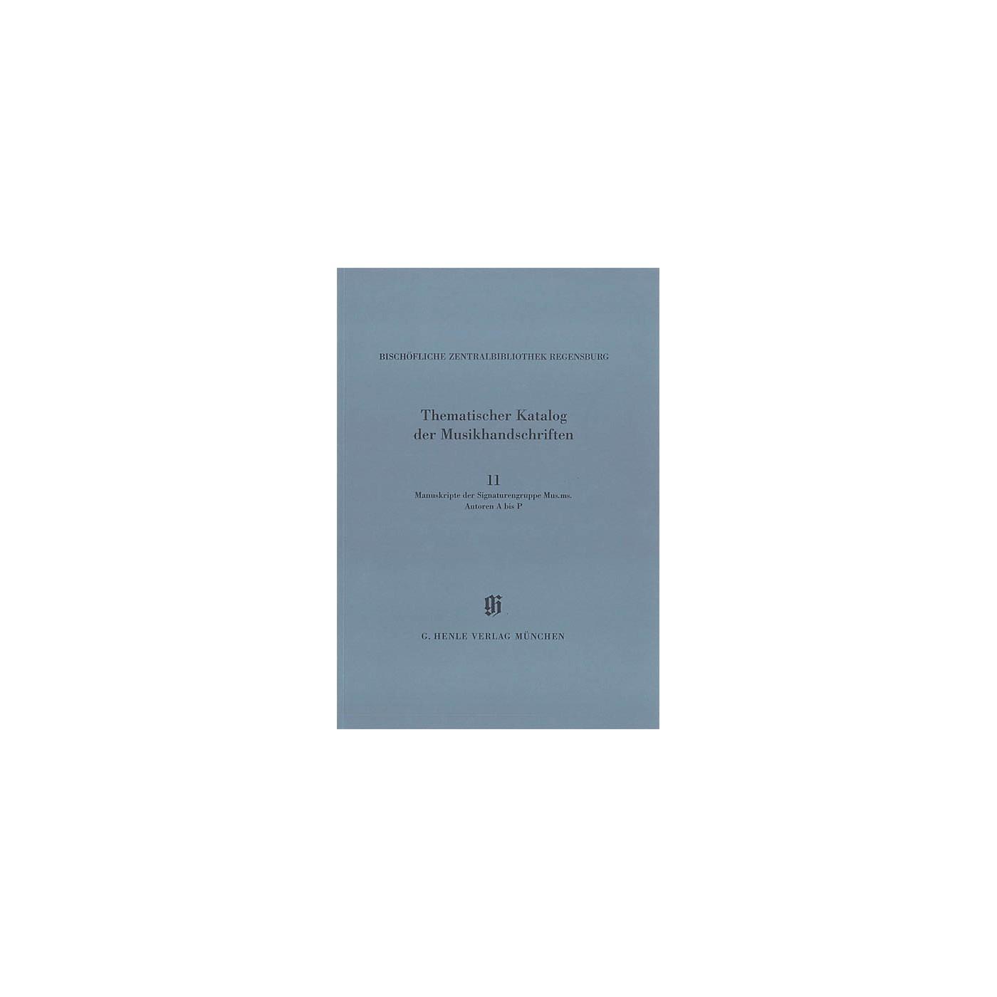 G. Henle Verlag Signaturengruppe Mus. ms. Autoren A-P Henle Books Series Softcover thumbnail
