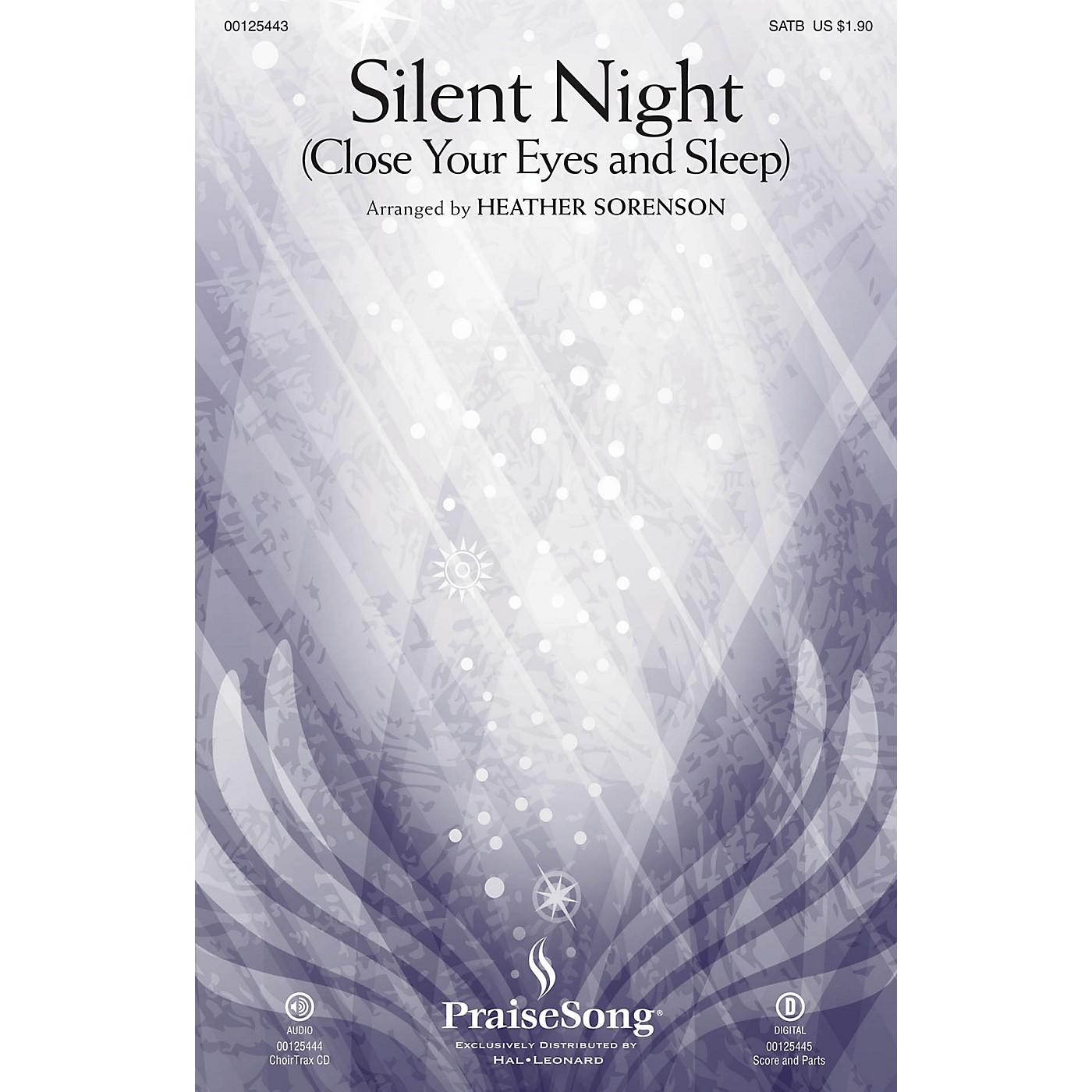 PraiseSong Silent Night (Close Your Eyes and Sleep) CHOIRTRAX CD Arranged by Heather Sorenson thumbnail