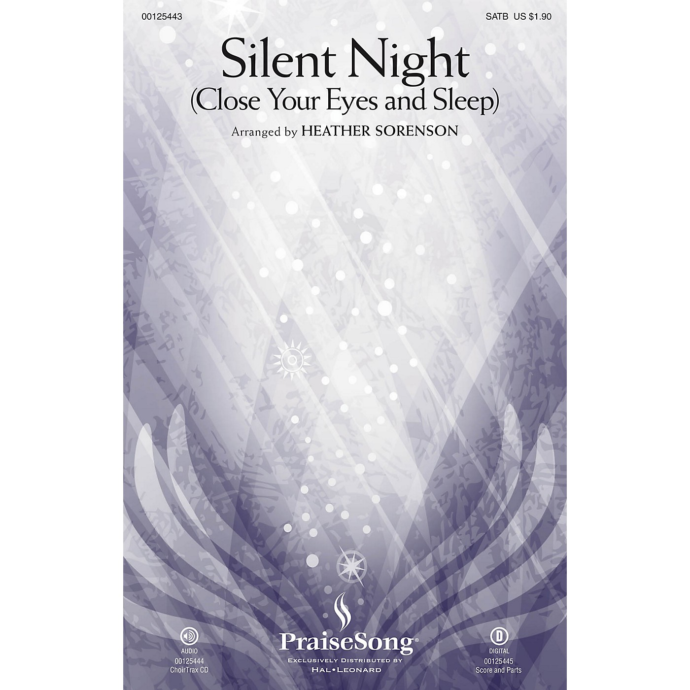 PraiseSong Silent Night (Close Your Eyes and Sleep) SATB arranged by Heather Sorenson thumbnail