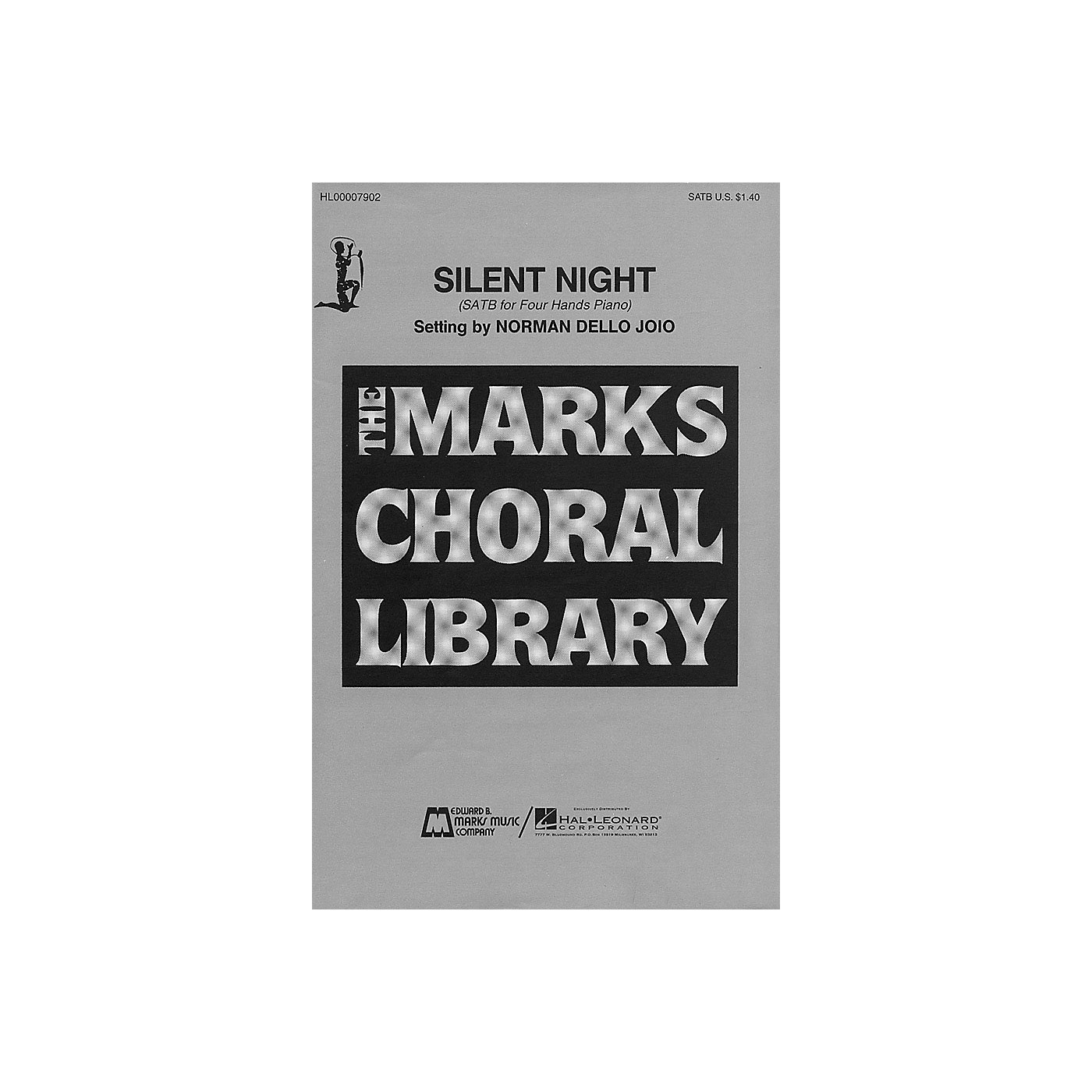 Edward B. Marks Music Company Silent Night (SATB and Piano, 4 Hands) SATB composed by Franz Grüber thumbnail
