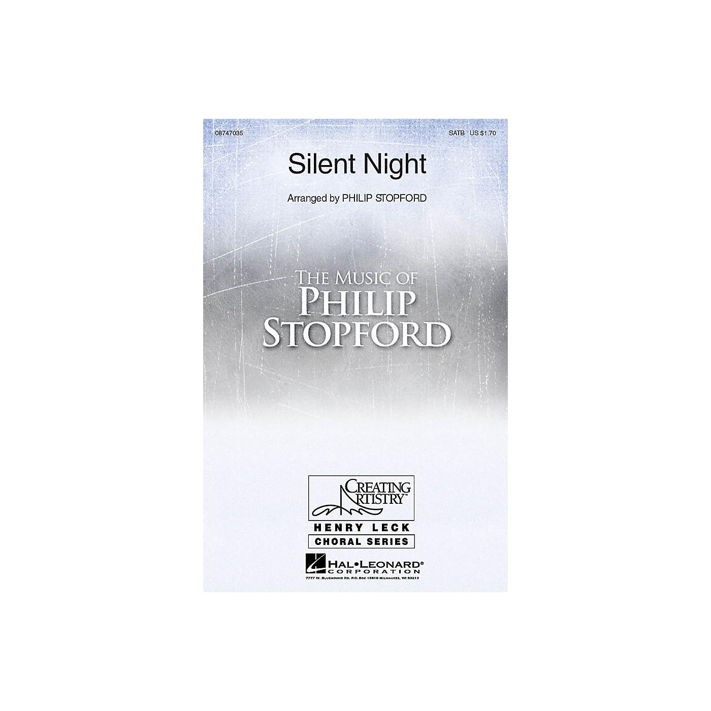 Hal Leonard Silent Night SATB arranged by Philip Stopford thumbnail