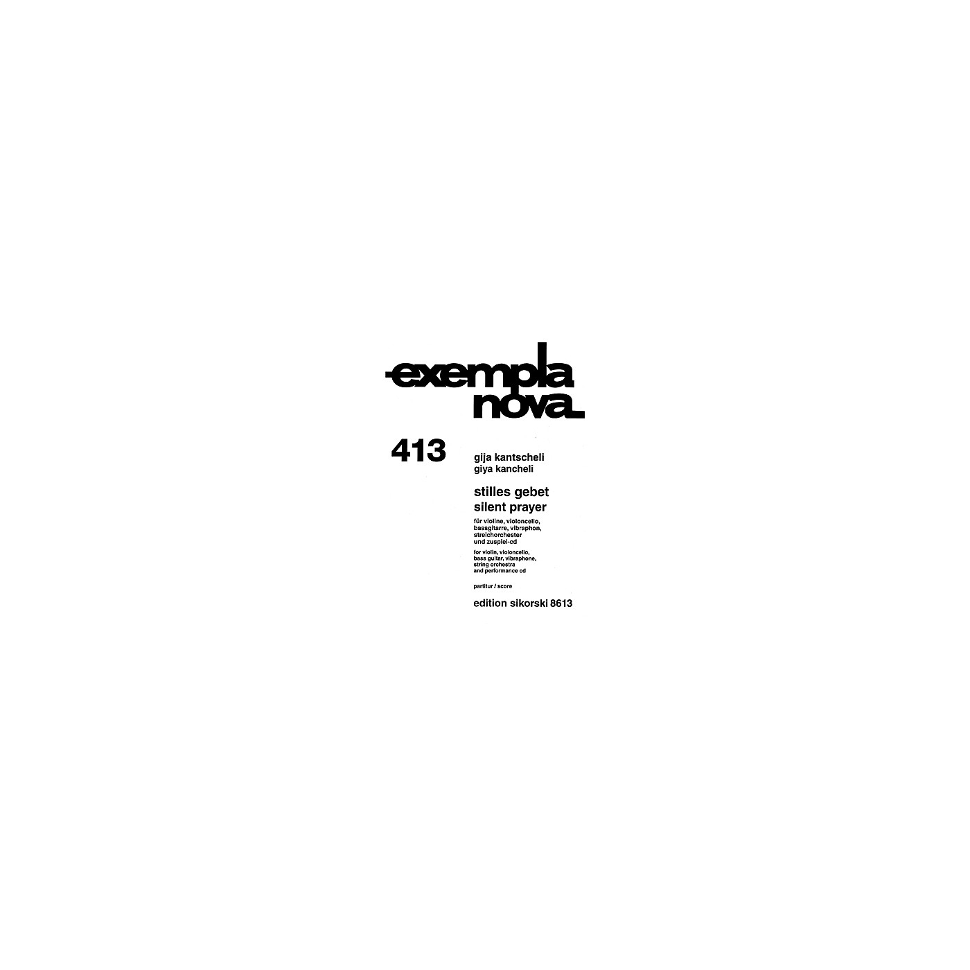 Sikorski Silent Prayer String Series Composed by Giya Kancheli (Kantscheli) thumbnail