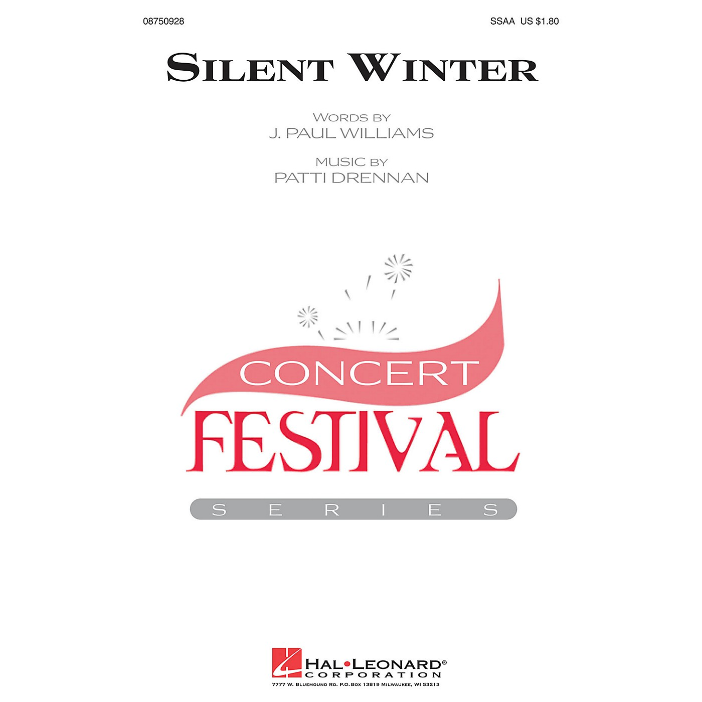 Hal Leonard Silent Winter SSAA composed by J. Paul Williams thumbnail