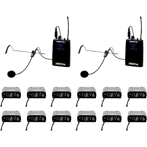 VocoPro SilentPA-IFB-12 One Way Communication System With 12 Receiver thumbnail