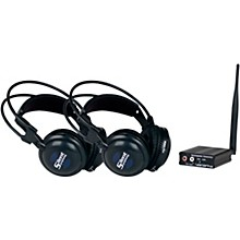 VocoPro SilentSymphony-DUO Wireless Audio Broadcast and Headphone System with Two Headsets