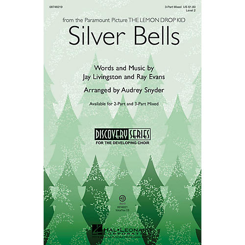 Hal Leonard Silver Bells (Discovery Level 2) 2-Part by Bing Crosby Arranged by Audrey Snyder thumbnail