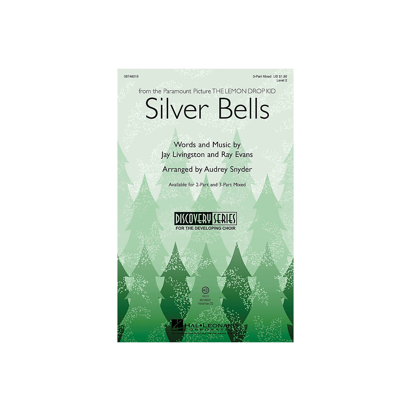 Hal Leonard Silver Bells (Discovery Level 2) 3-Part Mixed by Bing Crosby arranged by Audrey Snyder thumbnail
