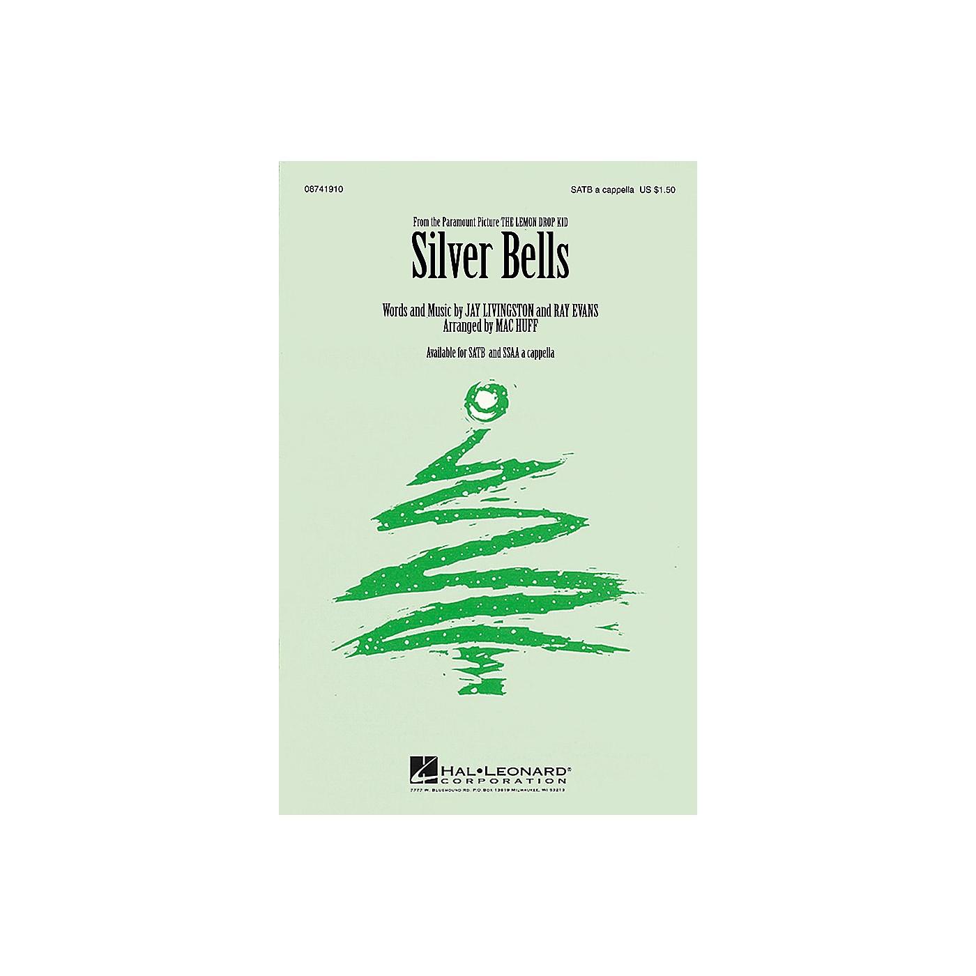 Hal Leonard Silver Bells SSAA A Cappella Arranged by Mac Huff thumbnail