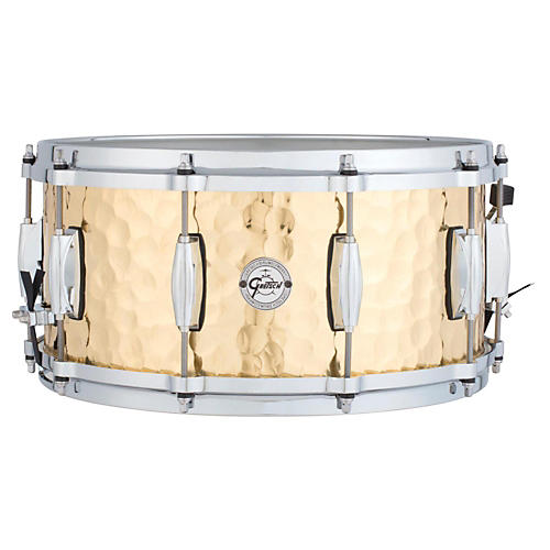 Gretsch Drums Silver Series Hammered Brass Snare Drum thumbnail