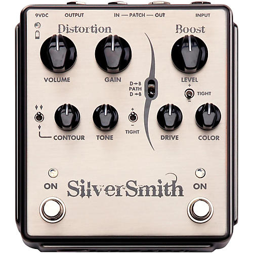 Egnater Silversmith Distortion/Boost Guitar Effects Pedal-thumbnail