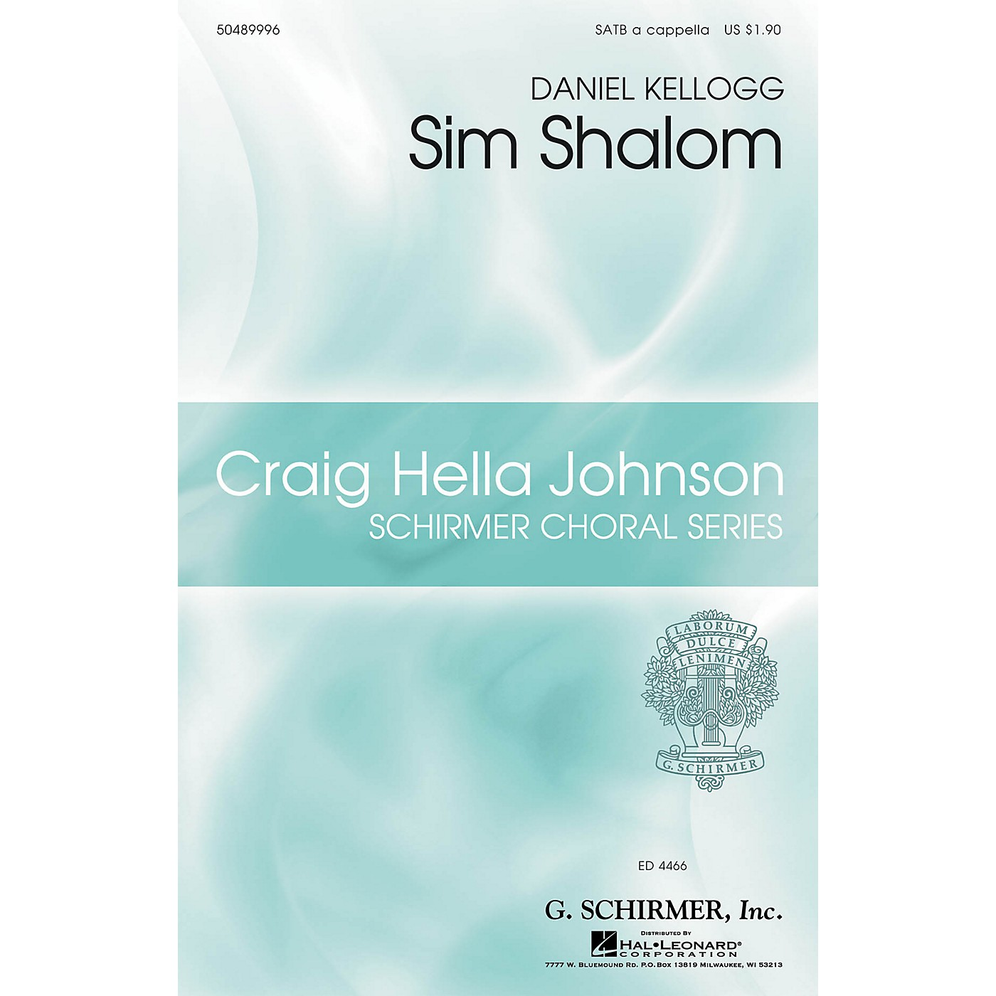 G. Schirmer Sim Shalom (Craig Hella Johnson Choral Series) SATB a cappella composed by Daniel Kellogg thumbnail