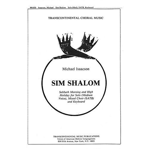 Transcontinental Music Sim Shalom SATB composed by Michael Isaacson thumbnail