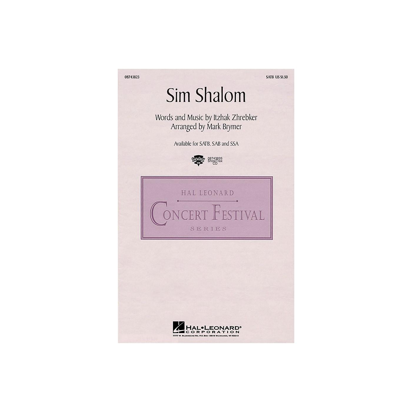 Hal Leonard Sim Shalom SSA Arranged by Mark Brymer thumbnail