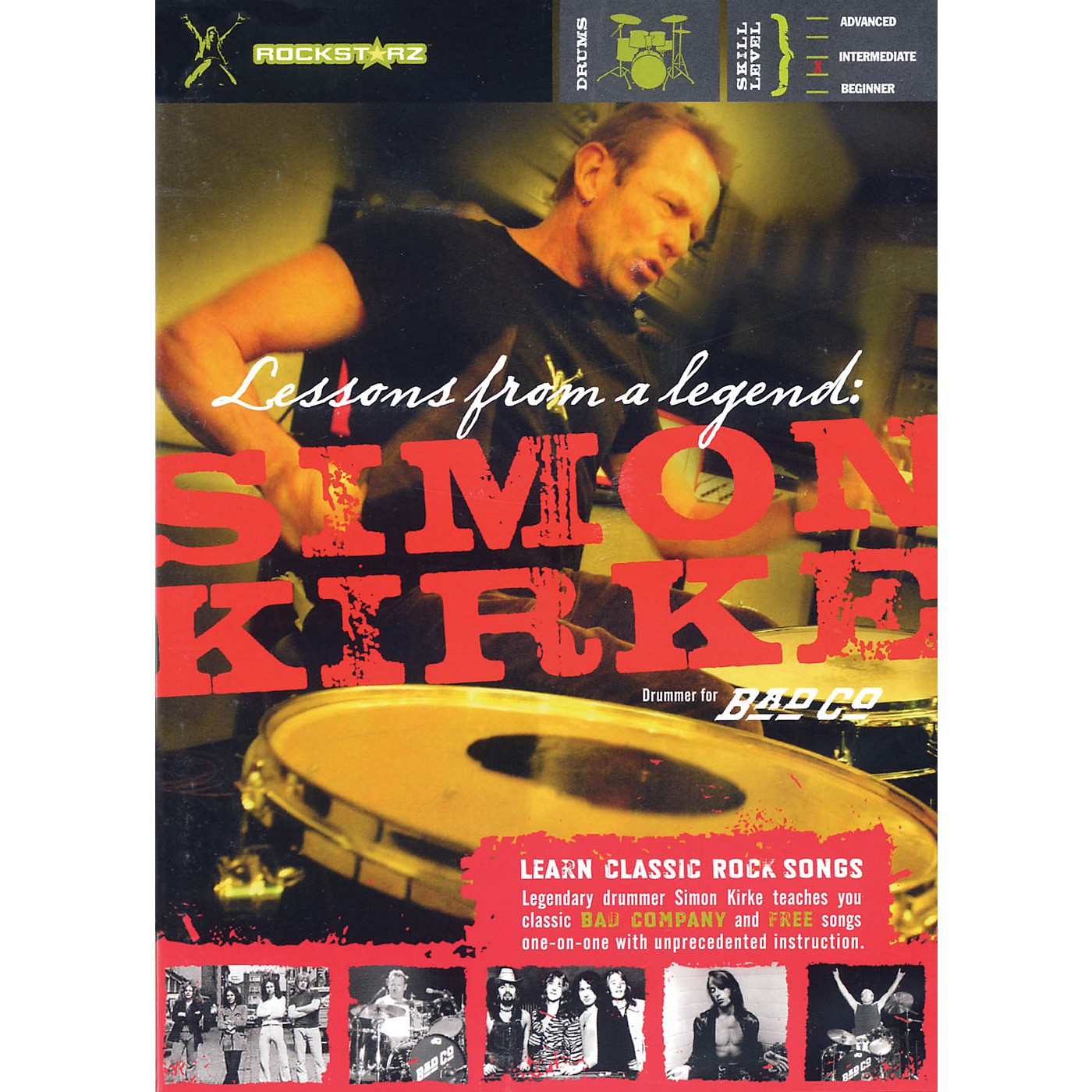 Rockstarz Simon Kirke - Lessons from a Legend Instructional/Drum/DVD Series DVD Written by Simon Kirke thumbnail