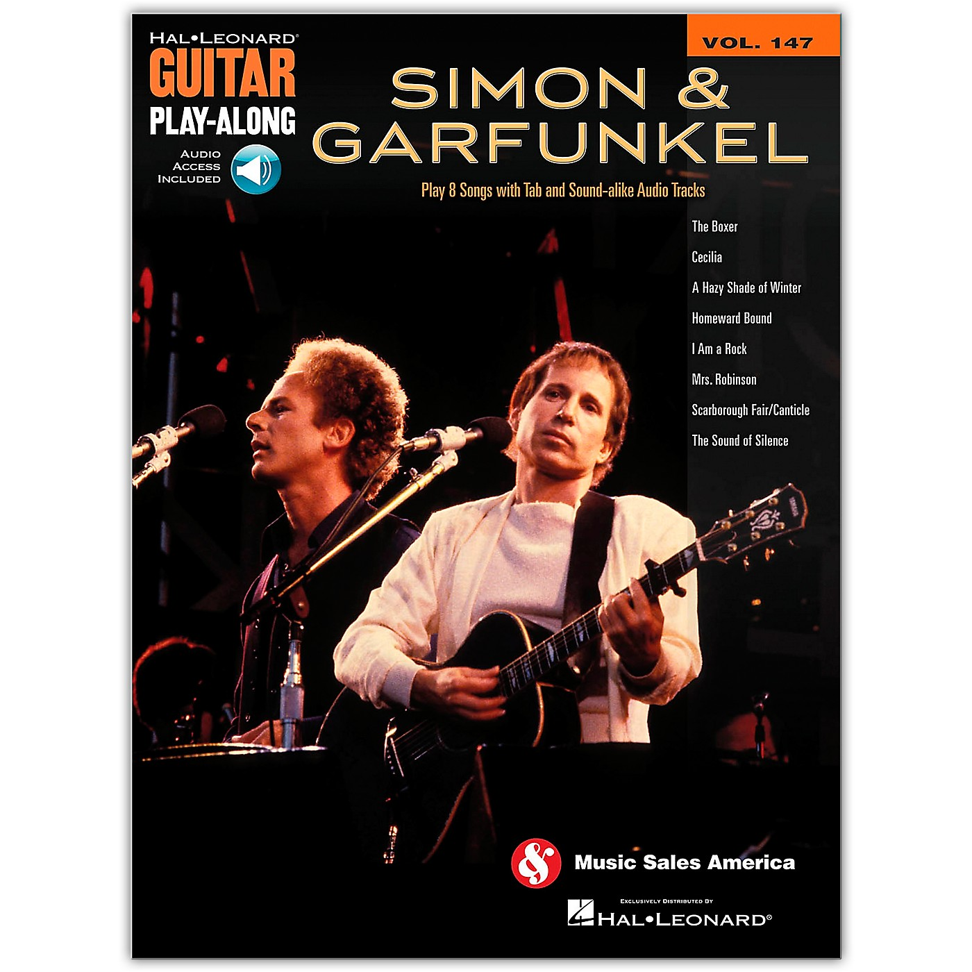 Hal Leonard Simon and Garfunkel Guitar Play-Along Volume 147 Book/Online Audio thumbnail