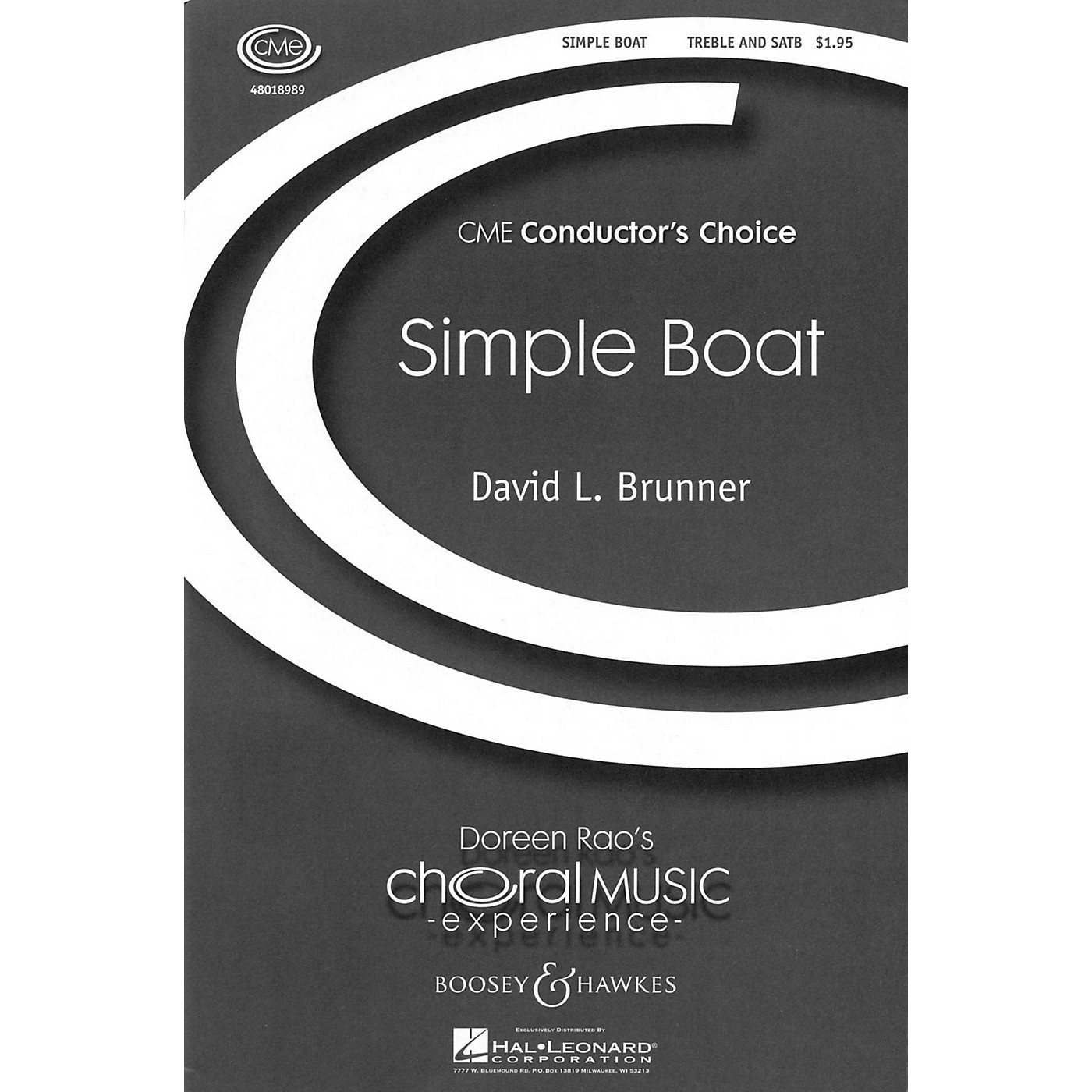 Boosey and Hawkes Simple Boat (CME Conductor's Choice) SATB composed by David Brunner thumbnail
