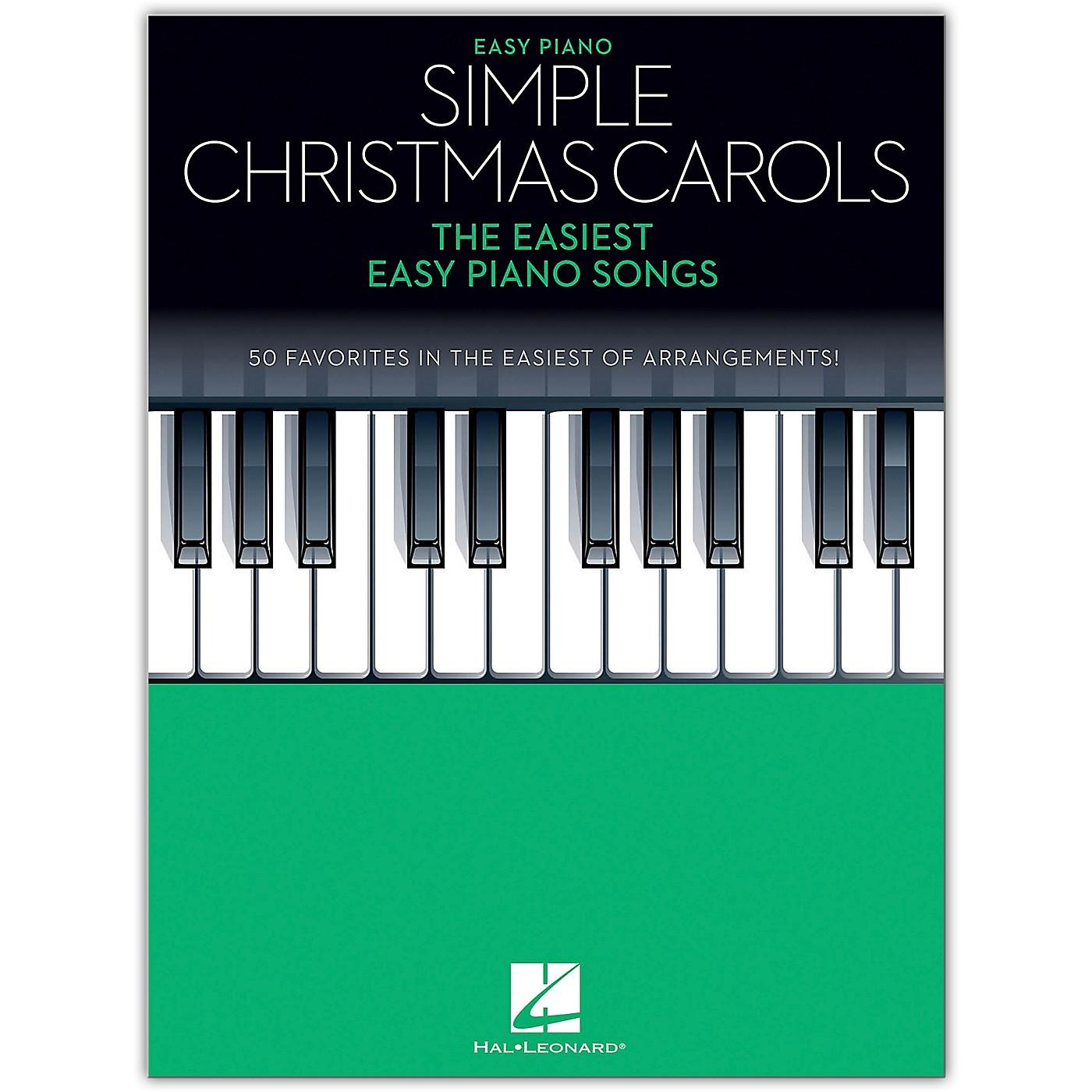 Hal Leonard Simple Christmas Carols (The Easiest Easy Piano Songs) Easy Piano Songbook thumbnail