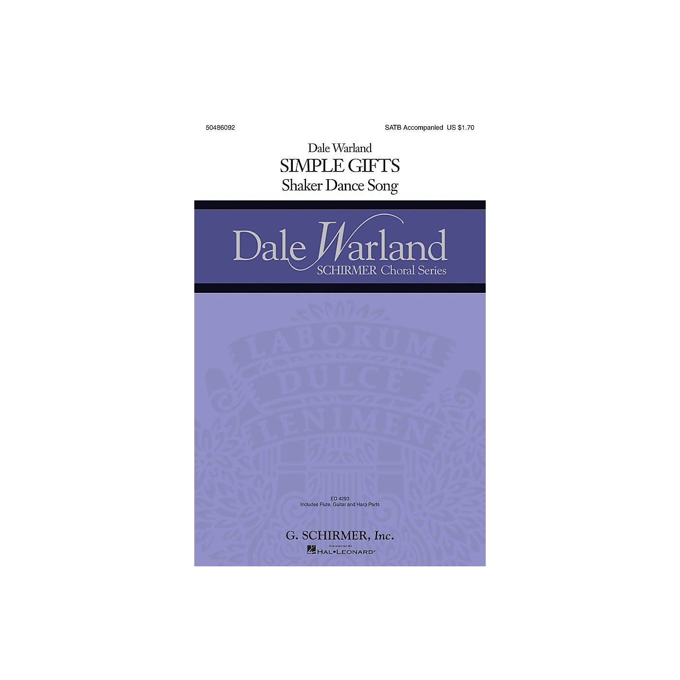 G. Schirmer Simple Gifts (Dale Warland Choral Series) SATB arranged by Dale Warland thumbnail