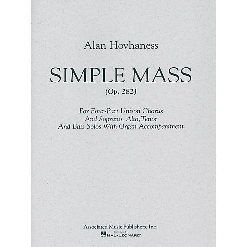 Associated Simple Mass (SATB) SATB composed by Alan Hovhaness thumbnail