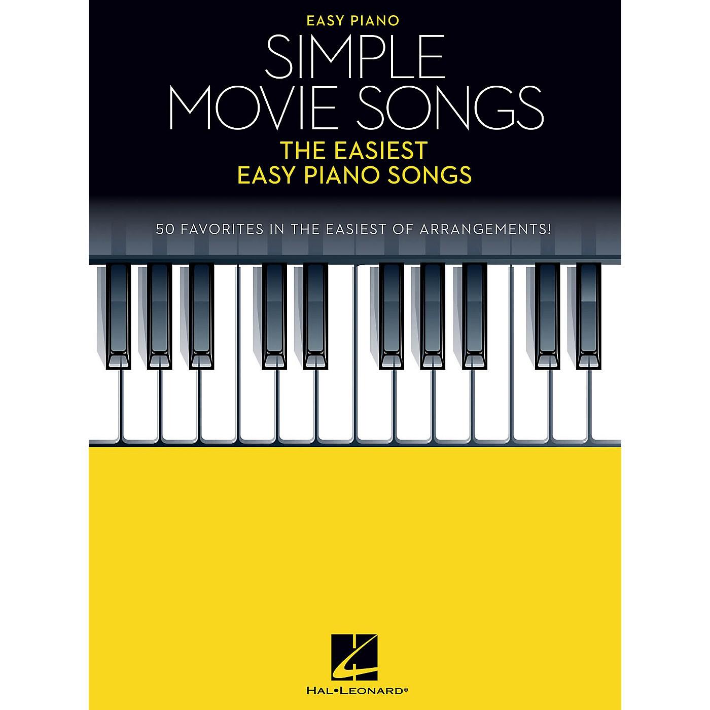 Hal Leonard Simple Movie Songs - The Easiest Easy Piano Songs Songbook thumbnail